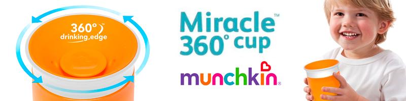 Miracle Cup 360º - Copo 360 Munchkin Laranja